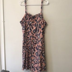 Pink w navy and white flower dress